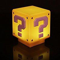 Super Mario - Nachttischlampe Fragezeichen-Block mit Sound