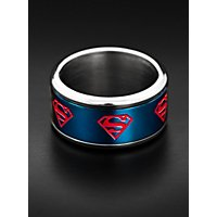 Superman - Logo Ring rotierend blau