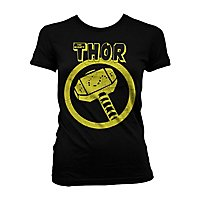 Thor - Girlie Shirt Distressed Hammer