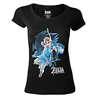Zelda - Girlie Shirt Link mit Bogen aus The Legend of Zelda: Breath of the Wild