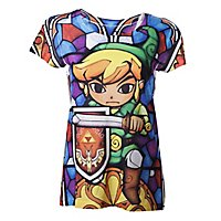 Zelda - Girlie Shirt Link Sublimation Glasmaler Style