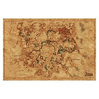 Zelda - Poster Breath Of The Wild: Hyrule World Map