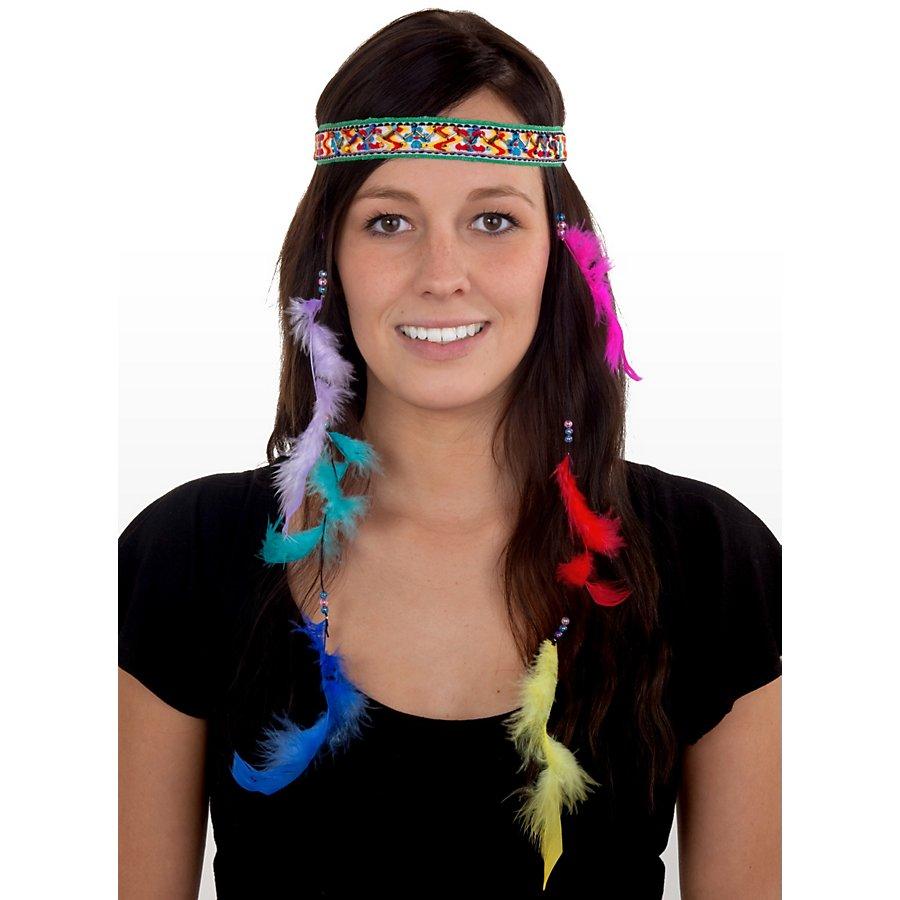 Hippie Kopfschmuck mit Federn