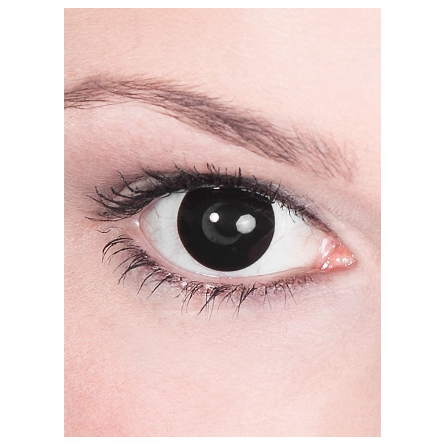 Schwarze Kontaktlinsen Halloween