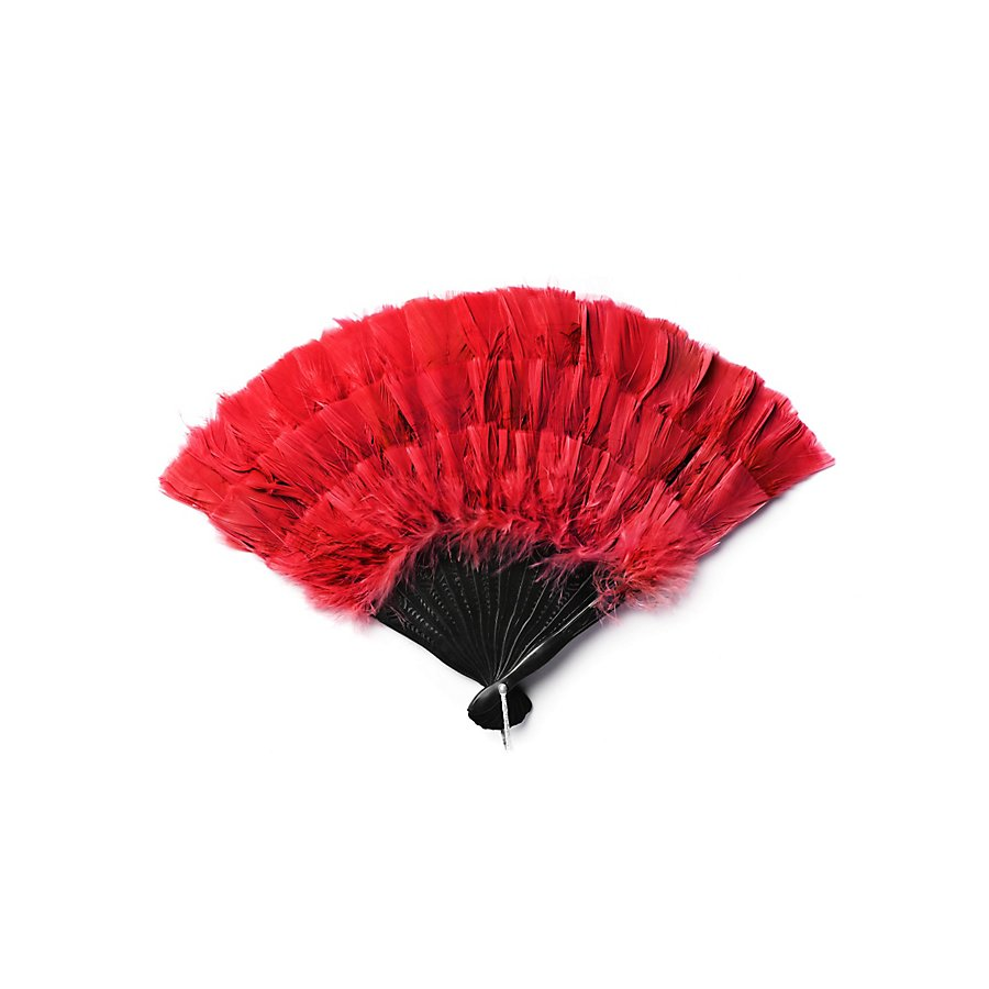 Federfächer rot
