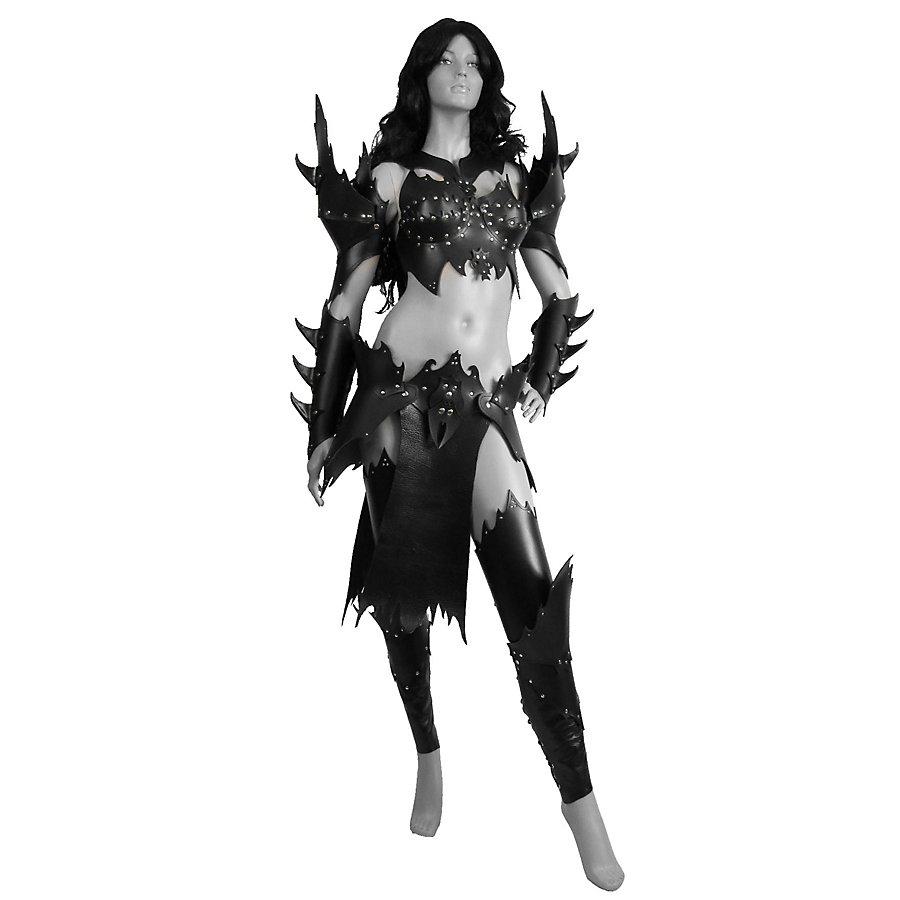 Lederrüstungsset - Dunkelelfenkriegerin deluxe