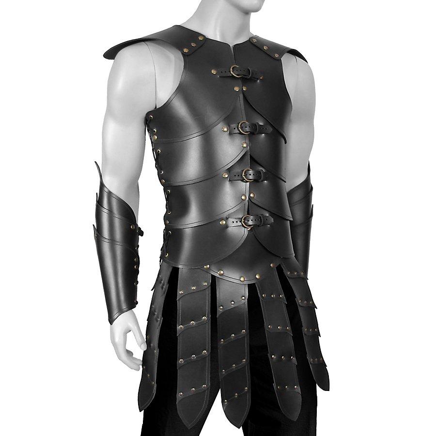 Krieger Lederrüstung schwarz