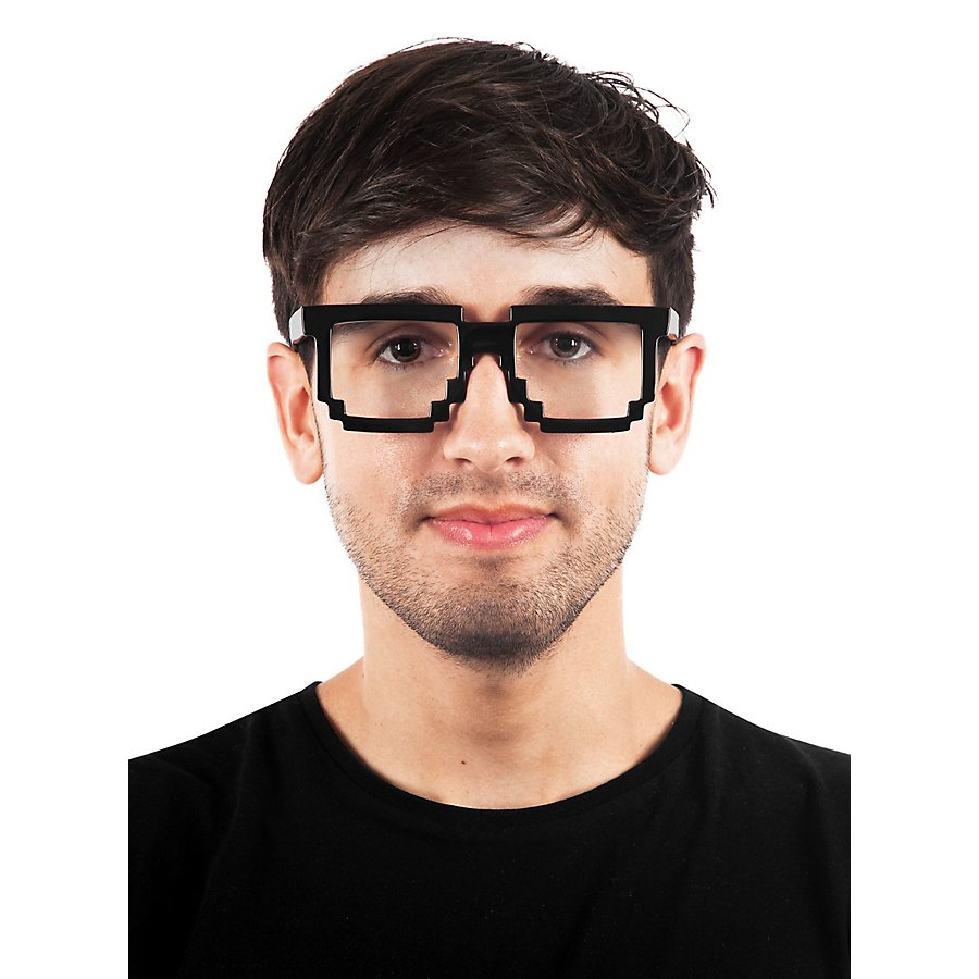 Pixelbrille schwarz
