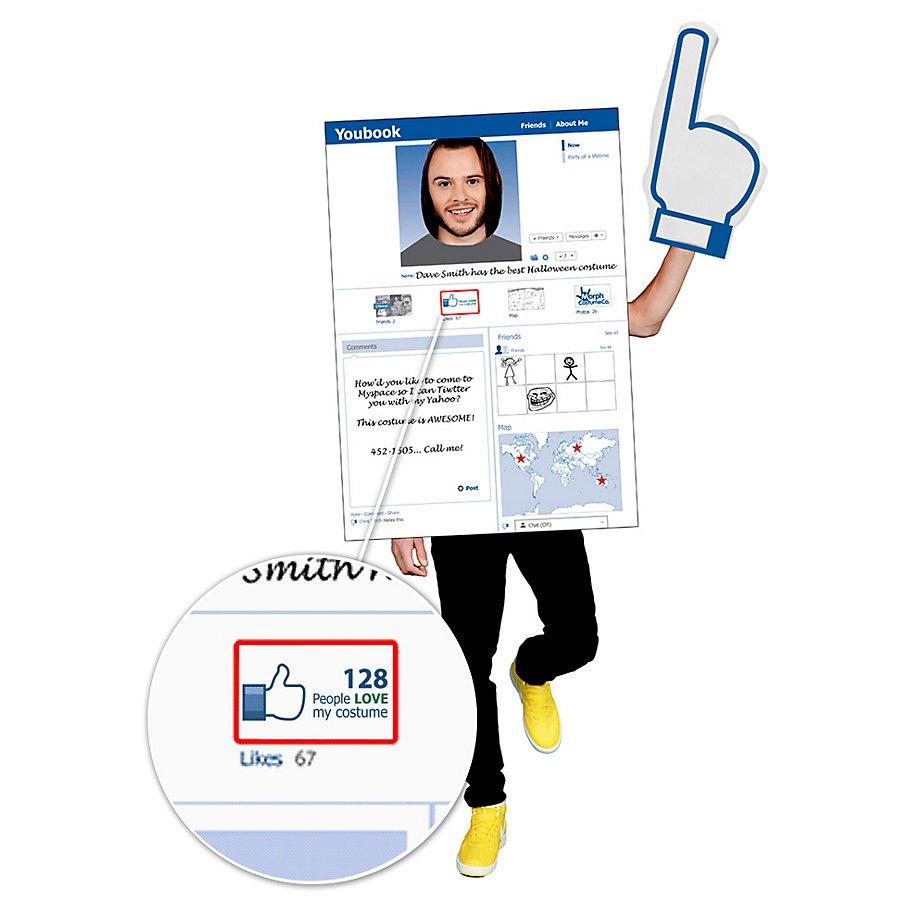 Social Media Smartphone Facebook Kostüm