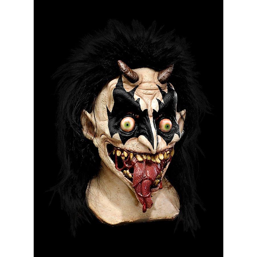 Dämon Kiss Maske aus Latex