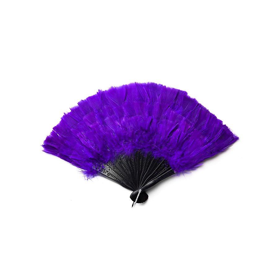 Federfächer lila