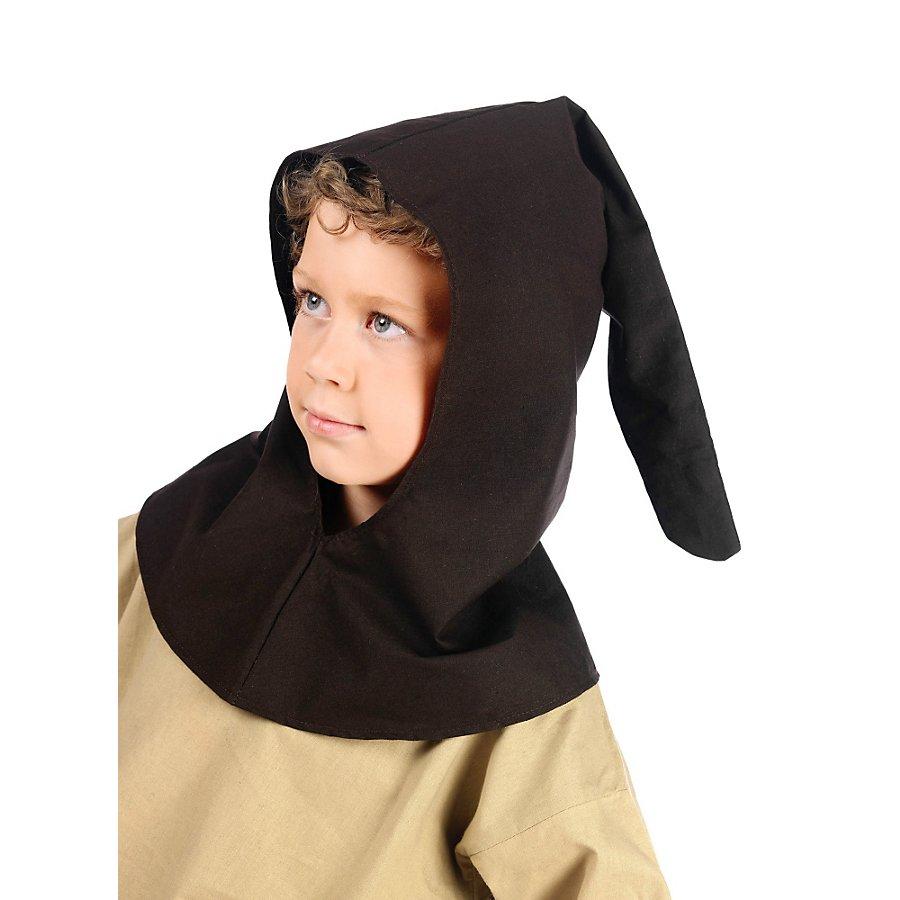 Mittelalter Gugel braun für Kinder
