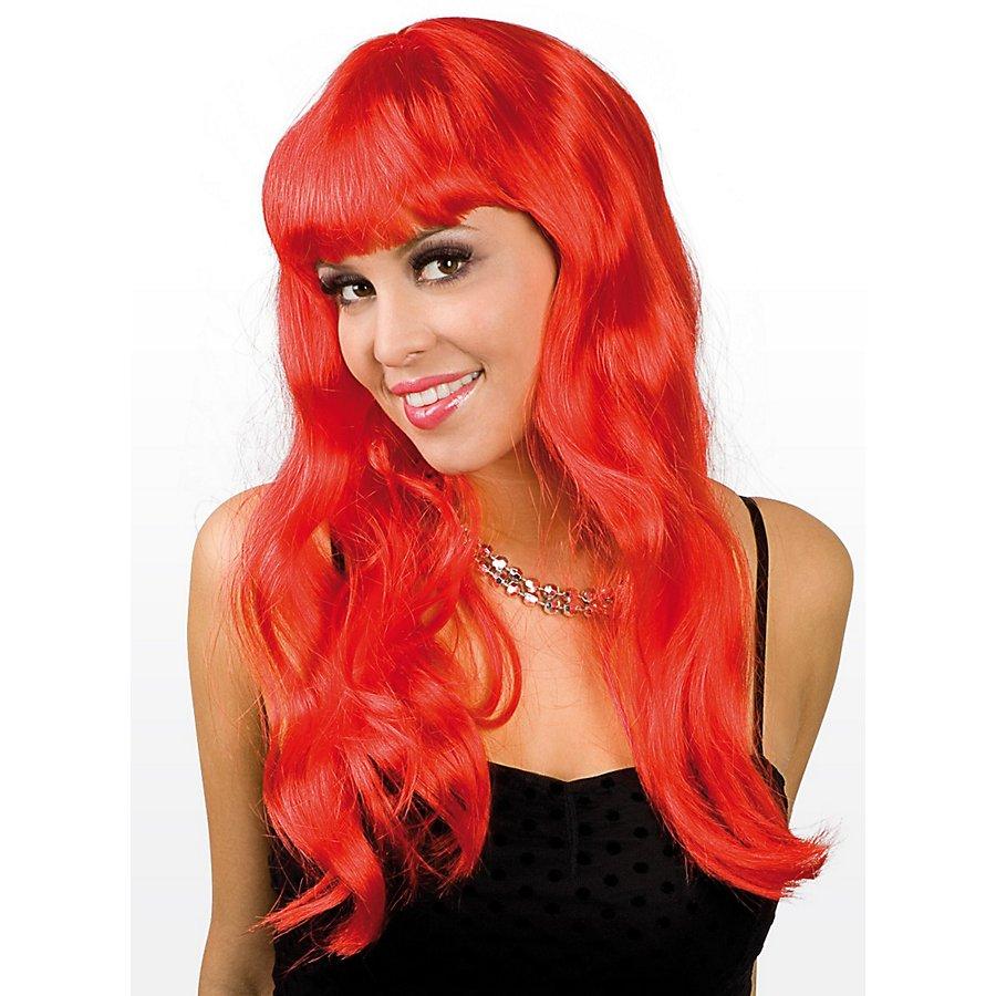 Lange Haare rot Perücke