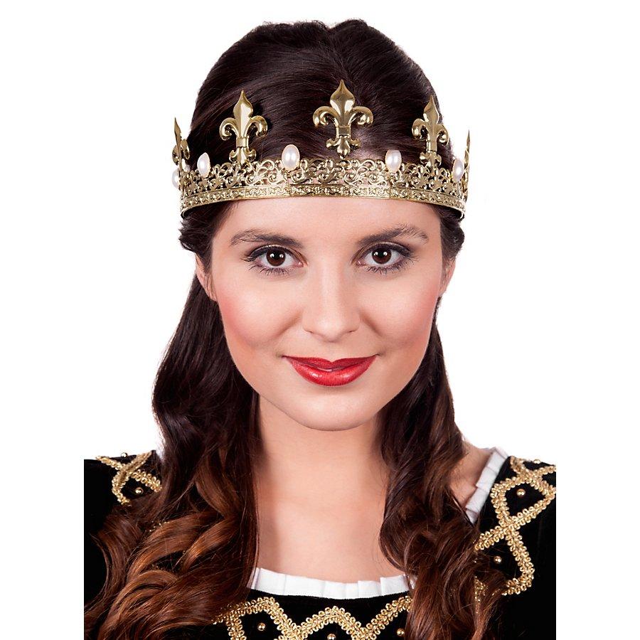 Goldene Krone mit Perlen