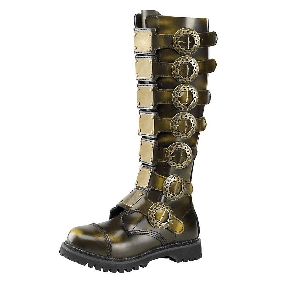 Steampunk Stiefel Deluxe Herren bronze