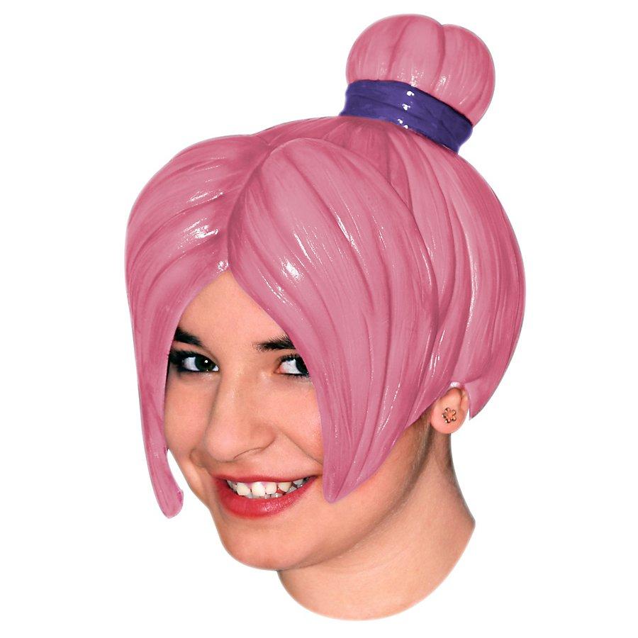 Manga Girl pink Perücke aus Latex