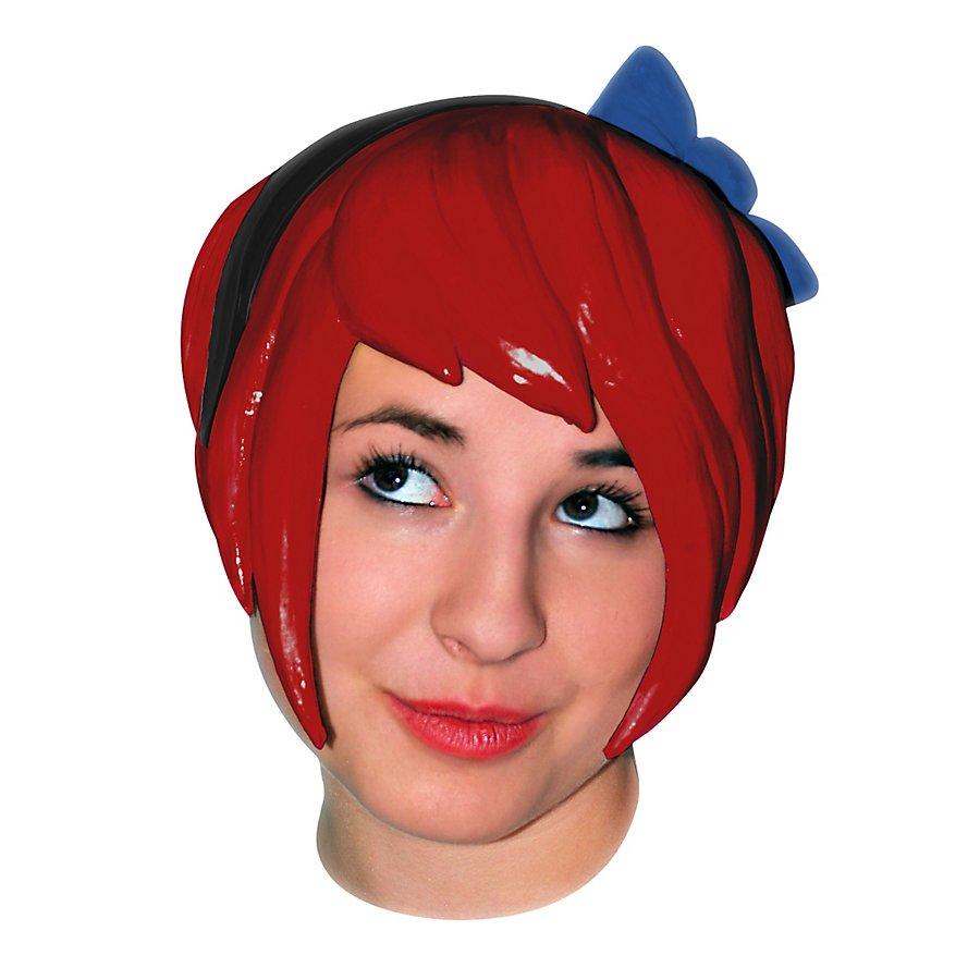 Indie Girl rot Perücke aus Latex