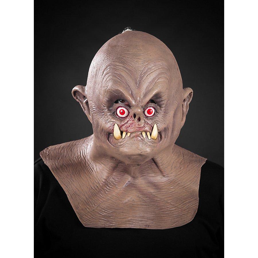 Einfältiger Ork Maske aus Latex