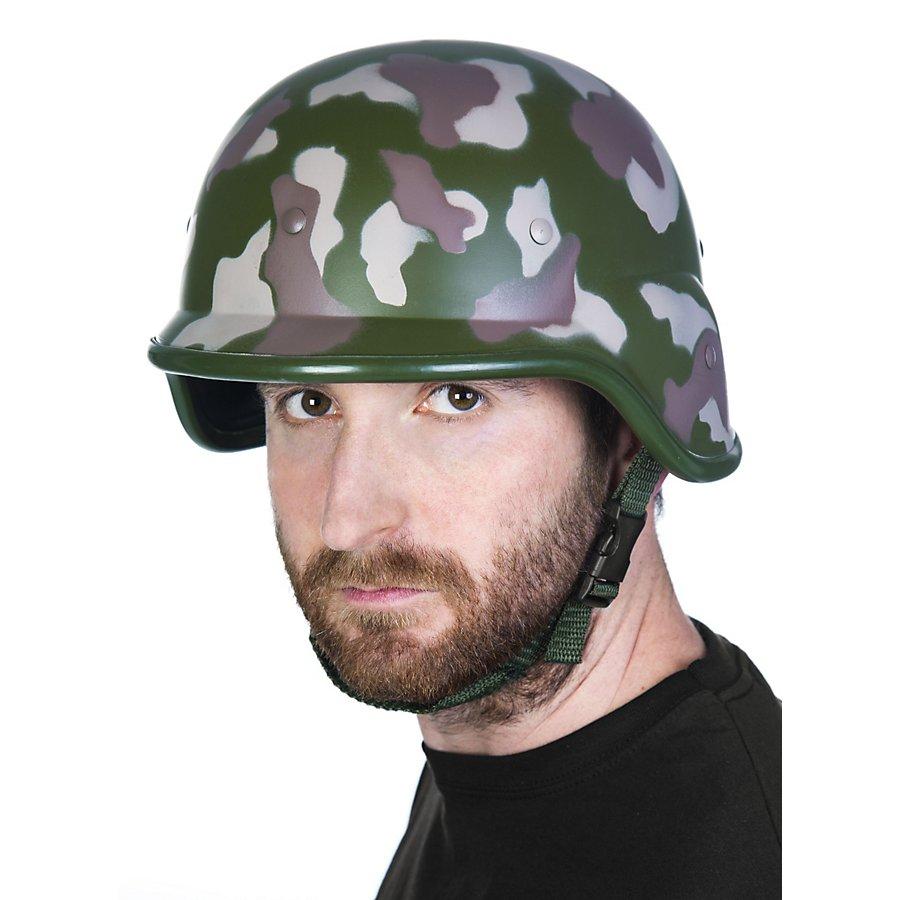 Soldatenhelm Camouflage aus Kunststoff