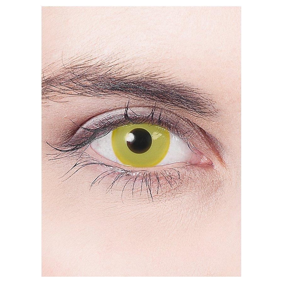 Gelbe Kontaktlinse mit Dioptrien