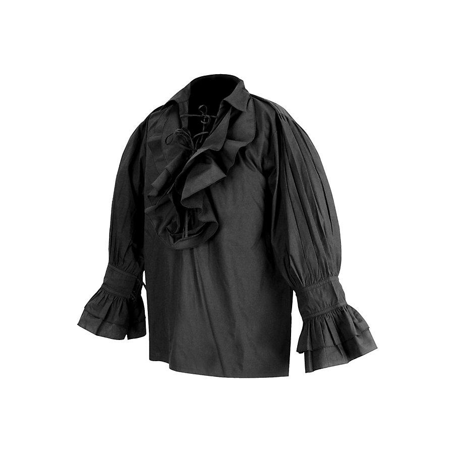 Rüschenhemd Renaissance schwarz
