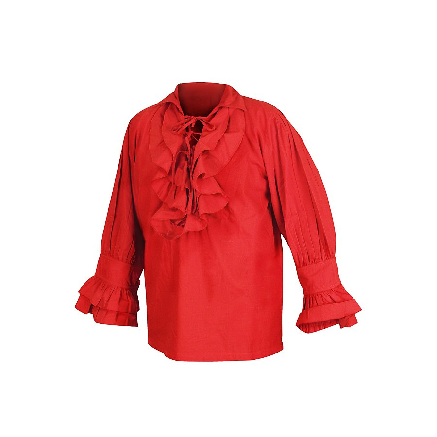 Rüschenhemd Renaissance rot