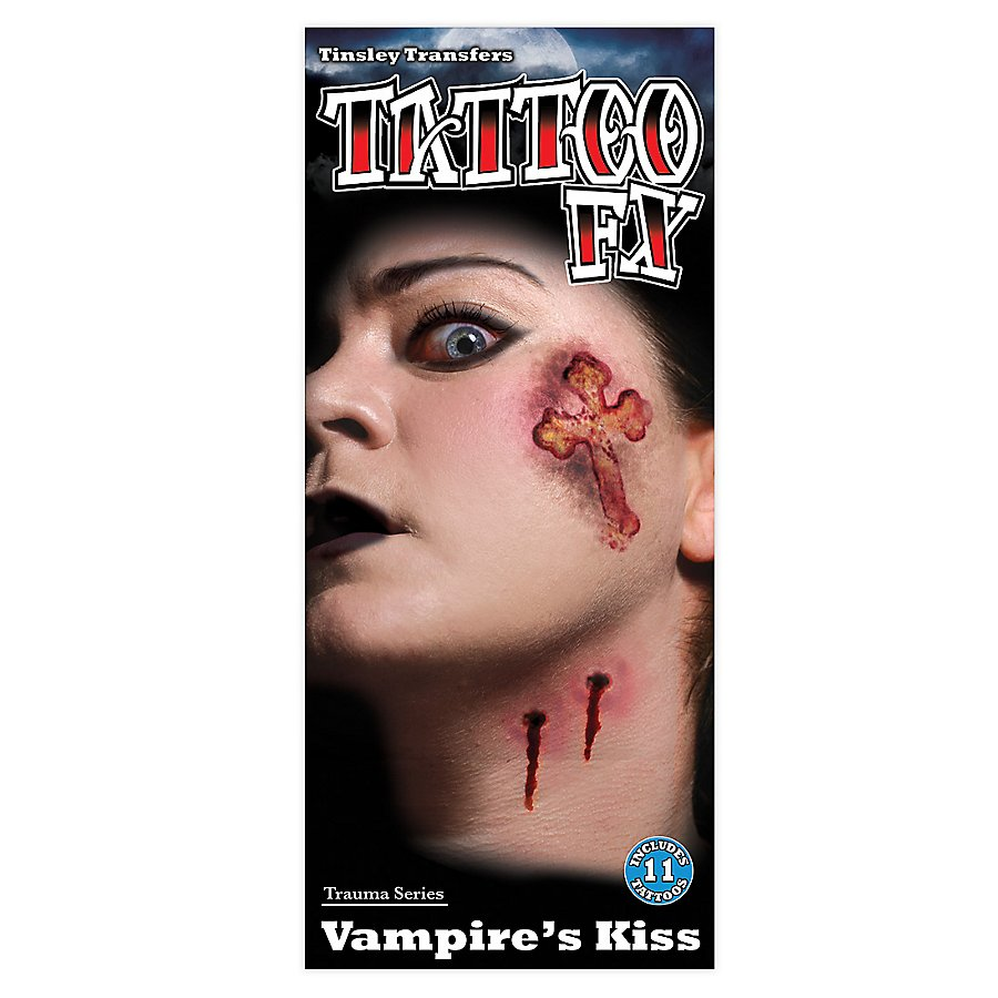 Vampirbiss Klebe-Tattoo