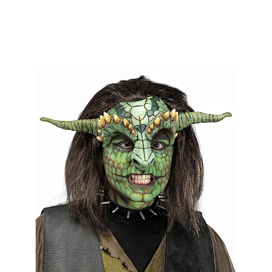 Reptilien Krieger Maske aus Latex