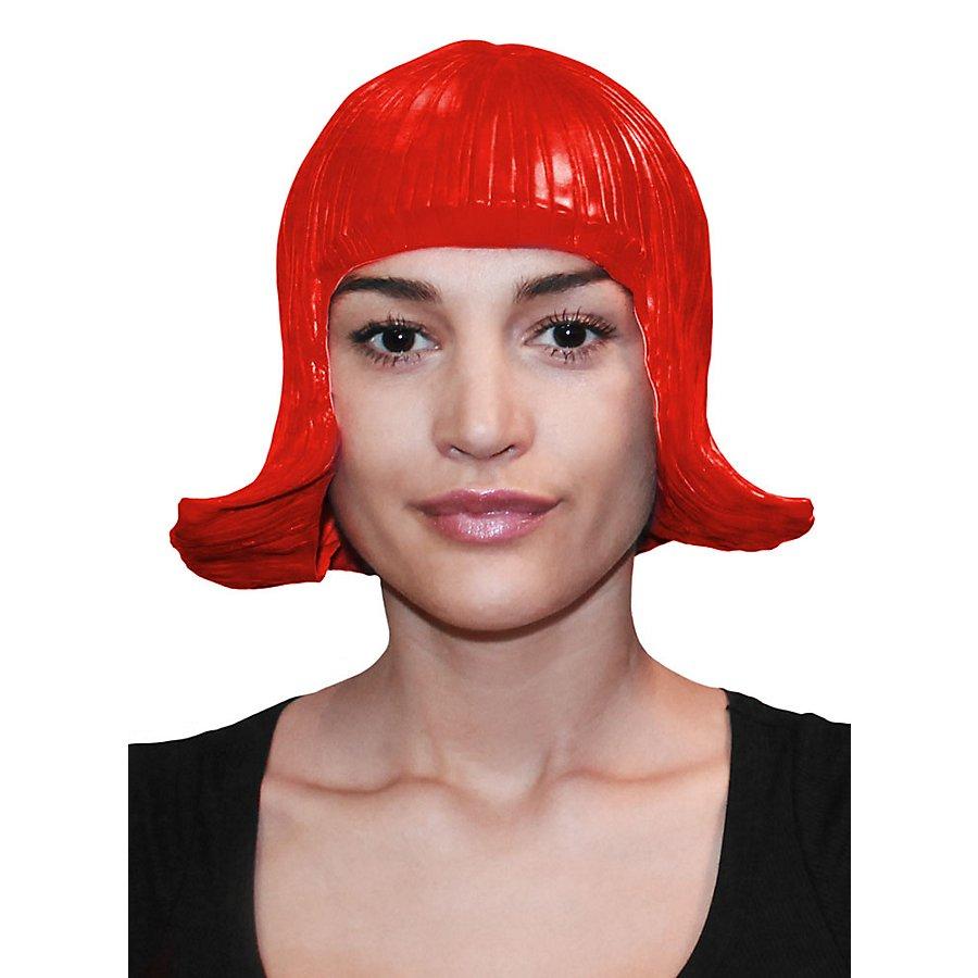 Comic Lady Latexperücke rot