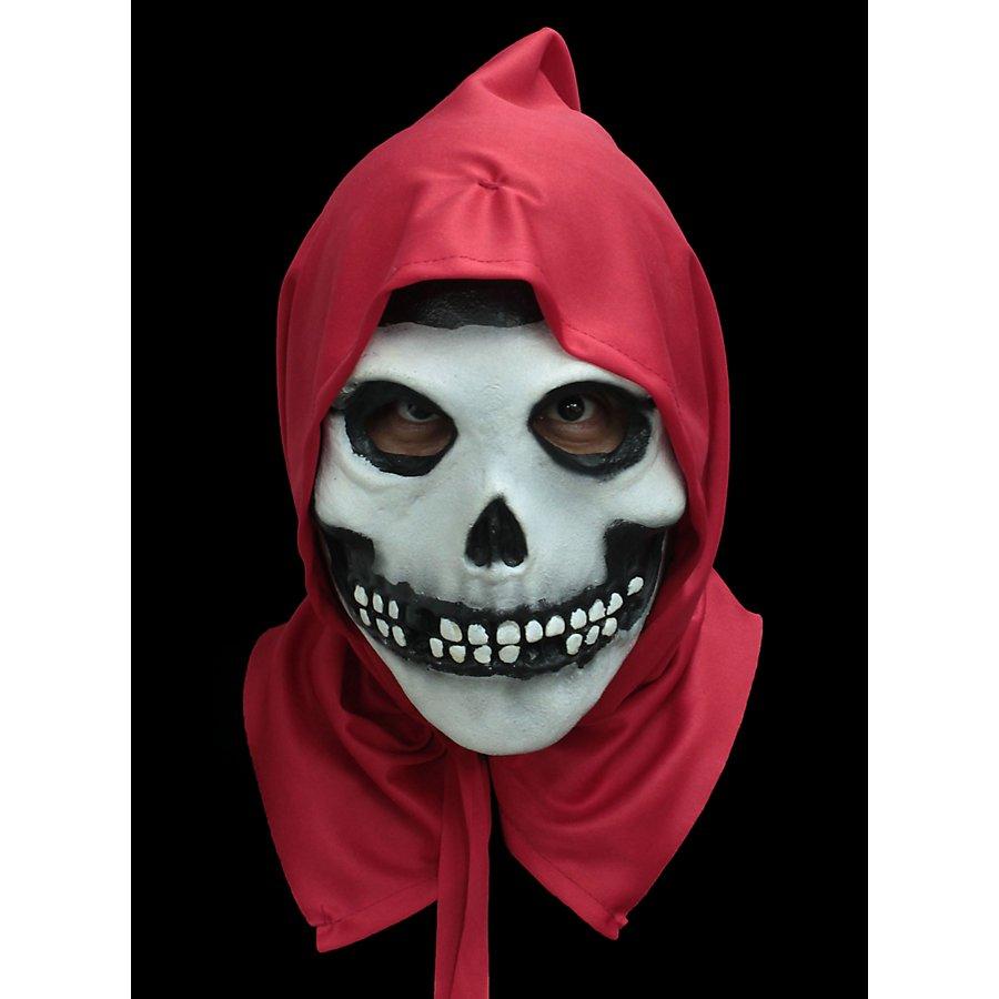 Misfits Fiend Totenkopf Maske mit roter Kapuze