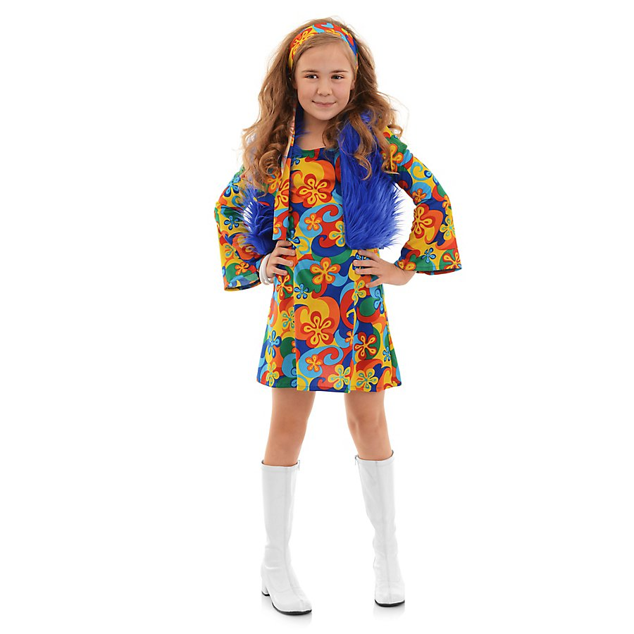 Hippie Minikleid Kinderkostüm