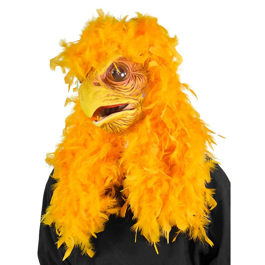 Huhn Maske mit beweglichem Schnabel