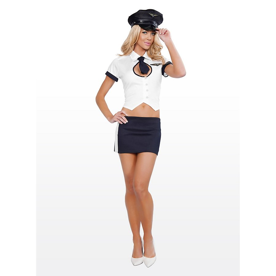 Sexy Testpilotin Kostüm
