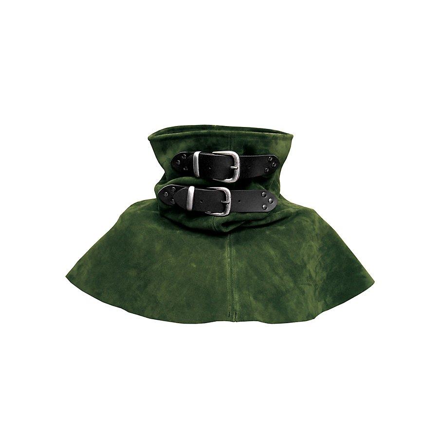 Lederkragen mit Schnallen - Nachtwache grün