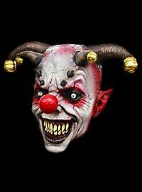 Horned Joker Clown Mask made of latex