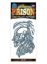 Reaper Temporary Prison Tattoo