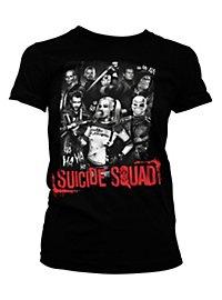 Suicide Squad Girlie Shirt schwarz
