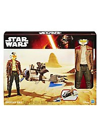 Star Wars Figuren-Set Poe Dameron mit Speeder