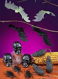 15 Deko Leucht-Fledermäuse