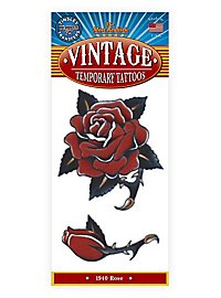 1940 Rose Temporary Tattoo