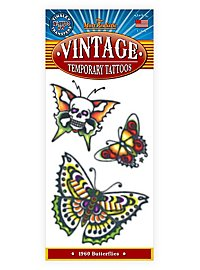 1960 Butterflies Temporary Tattoo