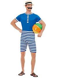 20er Jahre Badeanzug Kostüm blau