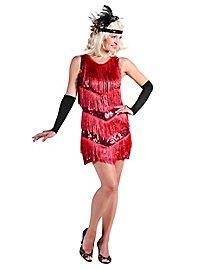 20er Jahre Charleston Kleid rot