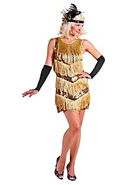 20s Charleston dress gold