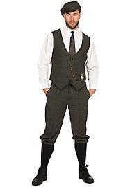 20s Dandy dark green costume set for men