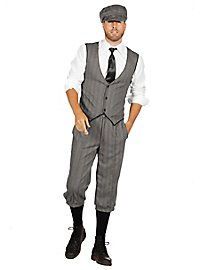 20's dandy grey costume set for men