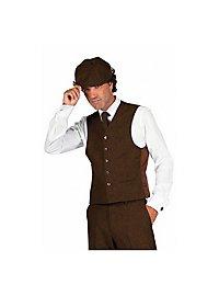 20s suit vest brown
