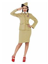 40er Jahre Offizierin Damenkostüm