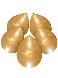 5 illooms LED Luftballons gold