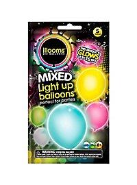 5 illooms LED Luftballons sunny